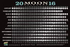 2016 Moon Calendar Card 5 Pack Kim Long 9781615192601