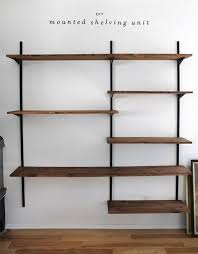 wall shelving units. 51 DIY Bookshelf Plans \u0026 Ideas To Organize Your Precious Books Wall Shelving Units
