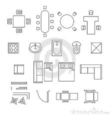 furniture for floor plans. Interesting Ideas Floor Plan Bathroom Symbols 12 Furniture Linear Vector Icons Stock On Home For Plans