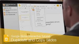 duplicate and copy slides custuide