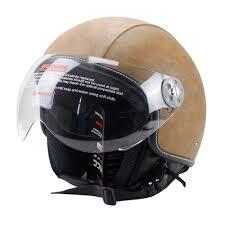 com woljay leather motorcycle vintage half helmets motorcycle biker cruiser scooter touring helmet m brown automotive