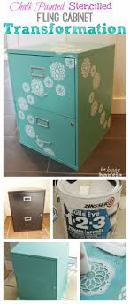 turquoise office decor. DIY Home Office Decor Ideas - Chalk Painted Stencilled Filing Cabinet Do It Yourself Desks Turquoise D