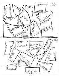 solving equations puzzle worksheet