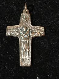 details about religious catholic sterling silver vedele pope francis pect cross pendant