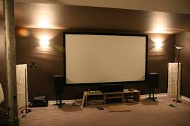 home theater screen projector paint ideas diy motorized material reviews sizes setup vs wall