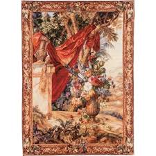 red d french tapestry wall hanging