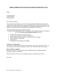 Employee Termination Letter Template Free Collection