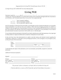 Will Form Free Florida Living Will Form Pdf Eforms Fillable Forms 24x24 5