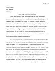 persuasive essay self confidence self confidence is the 8 pages research paper illegal immigration