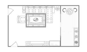 Floor plan upper cabinets