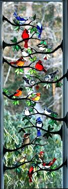 stained glass bird bath birds on branches hummingbird mosaic stained glass bird bath