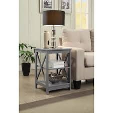 contemporary gray living room furniture. Wonderful Gray The Gray Barn Pitchfork Xbase End Table For Contemporary Living Room Furniture R