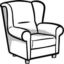 furniture clipart black and white. armchairs, chairs, furniture clipart black and white