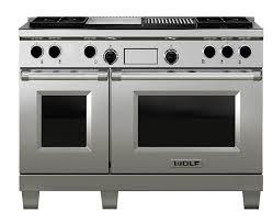 wolf icbdf484cg lp range cooker dual