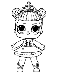 This coloring page shows a little surprise doll in. Lol Doll Coloring Pages Coloring Rocks