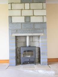 chimney t ready for finishing hearth tiles laid