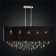 crystal drop chandelier oval shade lifestyles 006mm45sp b 3c