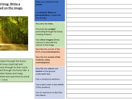 miss howell teaching resources tes creative descriptive writing placemat image prompt structure strips