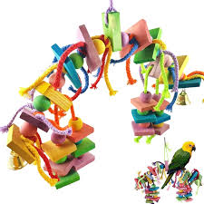 dels about bird knots block chewing toys parrot toys bird toys for large birds macaw o3j1