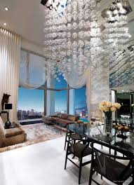 clear glass pendant living room contemporary decorating. Luxury Living Room High Ceiling With Beige Large Elegant Drapes And Clear Glass Windows Also White Pendant Pattern Decoration Contemporary Decorating