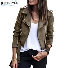 faux leather suede jackets women jaqueta feminina short slim basic jackets female long sleeve coat winter motorcycle streetweary1882402 womens jacket biker