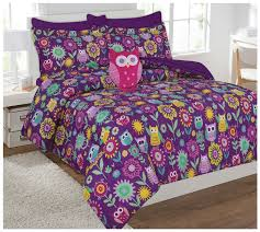 bedding kids comforter golden linens reversible printed owl microfiber in bag bedding with sheets and pillow
