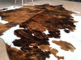 hide area rugs cowhide rug tricolor cow hair on size