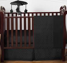 solid black minky dot baby bedding 4pc crib set by sweet jojo designs only 139 99