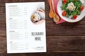 Food Menu Design Designcontest Restaurant Menu Template Design Restaurant Menu