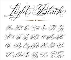 Fonts For Tattoos Cursive Fonts Alphabet Free Cursive Fonts For When Your Website