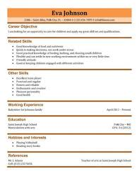 Babysitter Resume Objective Classy BabysitterResumeSample Love It Out Pinterest Resume Sample