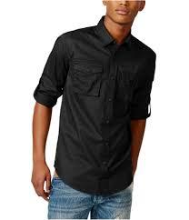 Sean John Mens Poplin Button Up Shirt