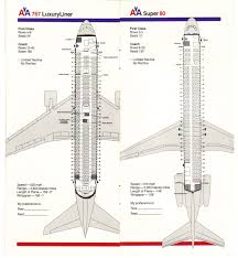 Airlines Past Present American Airlines Seating Guide Map