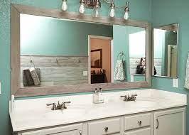 Diy Bathroom Mirror Frame For Under 10 Hello Hayley Blog
