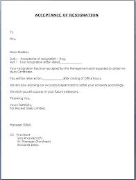 Sample Resignation Letter Template Uk Acceptance Skincense Co