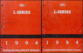 ford l series foldout wiring diagram l l lt 1994 ford l series 7000 9000 repair shop manual original 2 volume set 189 00