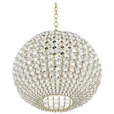 large ball shaped crystal chandelier lamp austria circa 1960 for