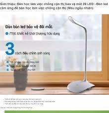 ⭐Đèn học làm việc chống cận thị bảo vệ mắt 20 LED - Đèn led cảm ứng để bàn  học làm việc chống cận thị (Màu ngẫu nhiên): Mua bán trực tuyến