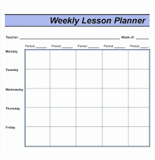 Lesson Plan Template Weekly Wilkesworks