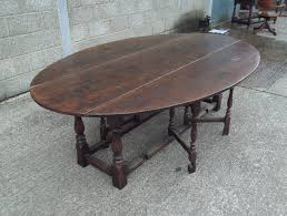 antique oak oval dining table. large 17th century oak dining table - charles ii revival oval drop leaf antique e
