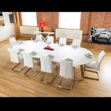 furniture glamorous 12 seat dining table set 10 room seats large wooden white chairs floor glasses