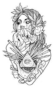 Small Picture Best 25 Tattoo coloring book ideas on Pinterest Mermaid