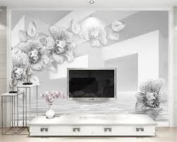 Beibehang Custom Behang Eenvoudige En Elegante 3d Wit Gouden