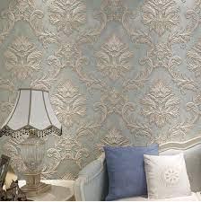 Wallpaper 3D Nonwoven Damascus Pattern ...