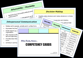 competency cards page comp cards