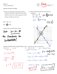 period review solving systems 1 if you are solving the linear system shown using the substitution method which variable would you solve for