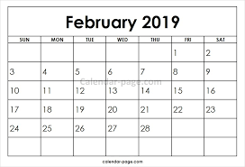 february printable calendar 2019 free printable calendar 2019 february templates india uk nz
