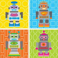 robot themed canvas wall art baby nursery wall decor childrens wall art from oopsy daisy childrens wall hangings at sugar spice kids decor on robot nursery wall art with robot themed canvas wall art baby nursery wall decor childrens