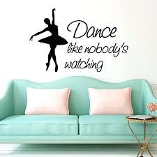 ballerina wall decor like watching ballerina wall stickers living room wall decor vinyl ballerina wall