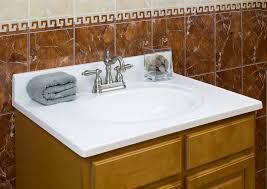 stylish modular wooden bathroom vanity. Alluring Wooden Bathroom Vanity Using Cabinet Under White Cultured Marble Counter Tops With Undermount Sink . Stylish Modular